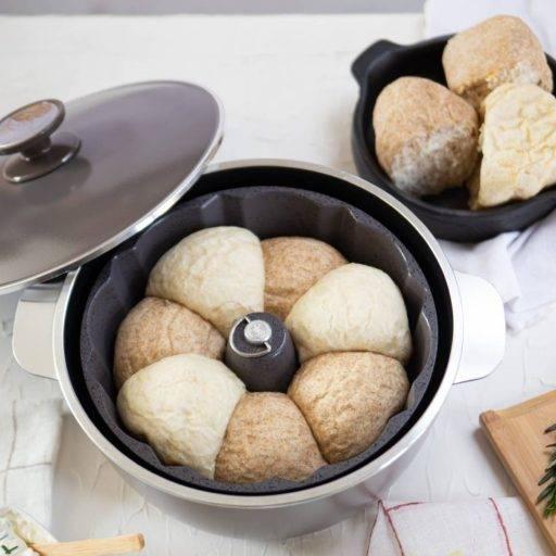 savarin essen. receta pan nube, antiadherente